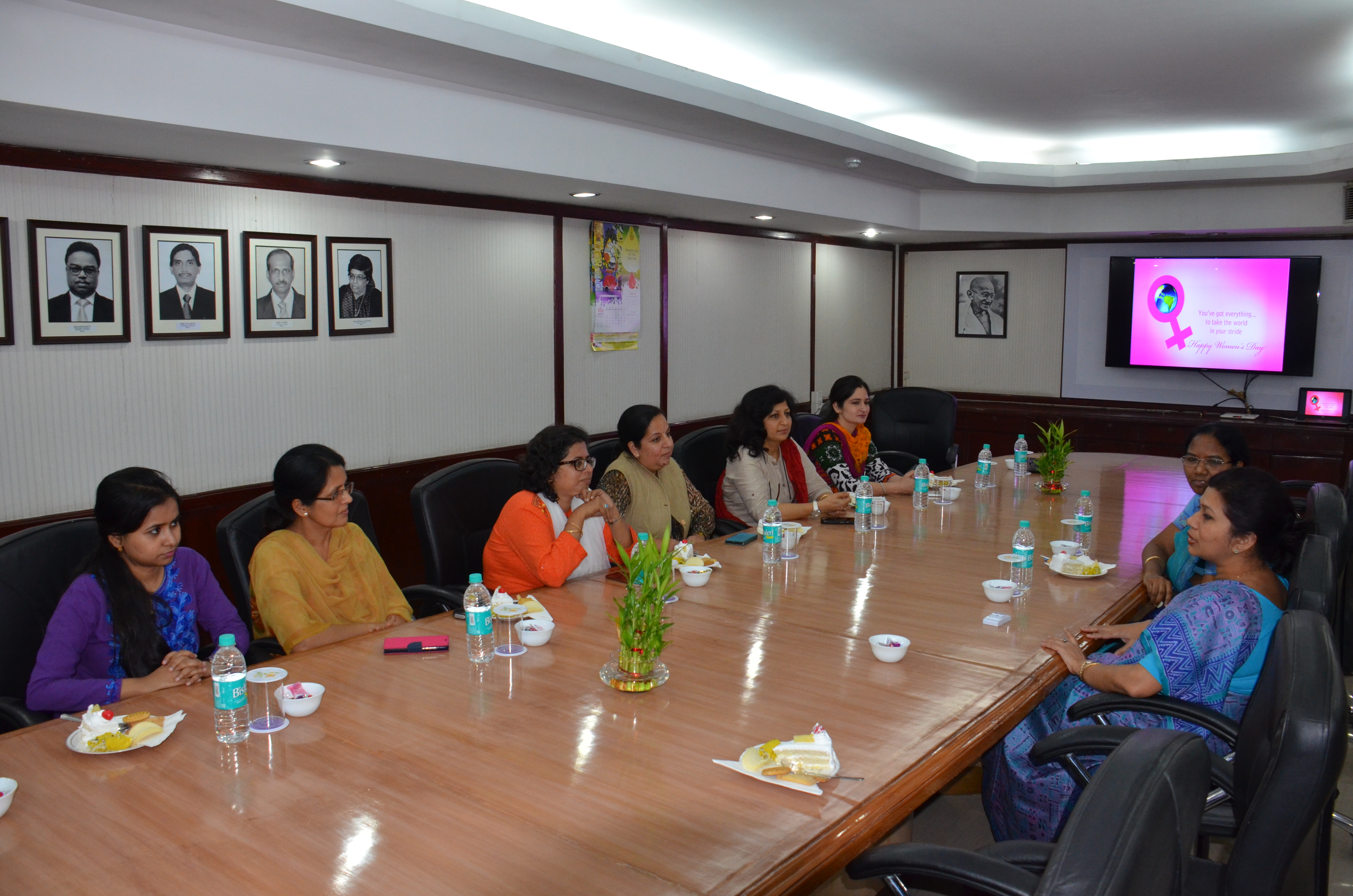 DG PPAC addressing Women employees of the organization on International Women s Day 2016 Photo Gallery