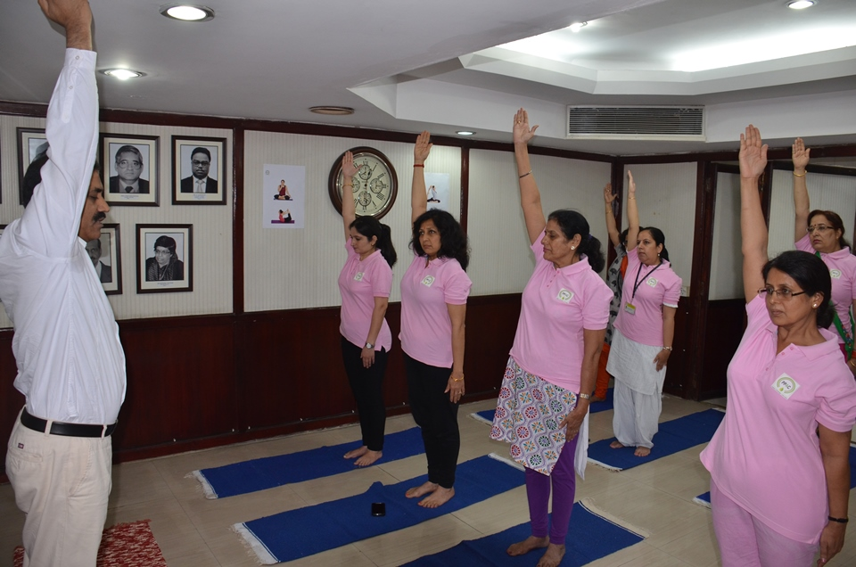 Practice of Common Yoga Protocol by employees of PPAC Photo Gallery