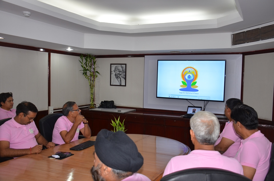 Video demonstration of Common Yoga Protocol in PPAC Conference Hall Photo Gallery