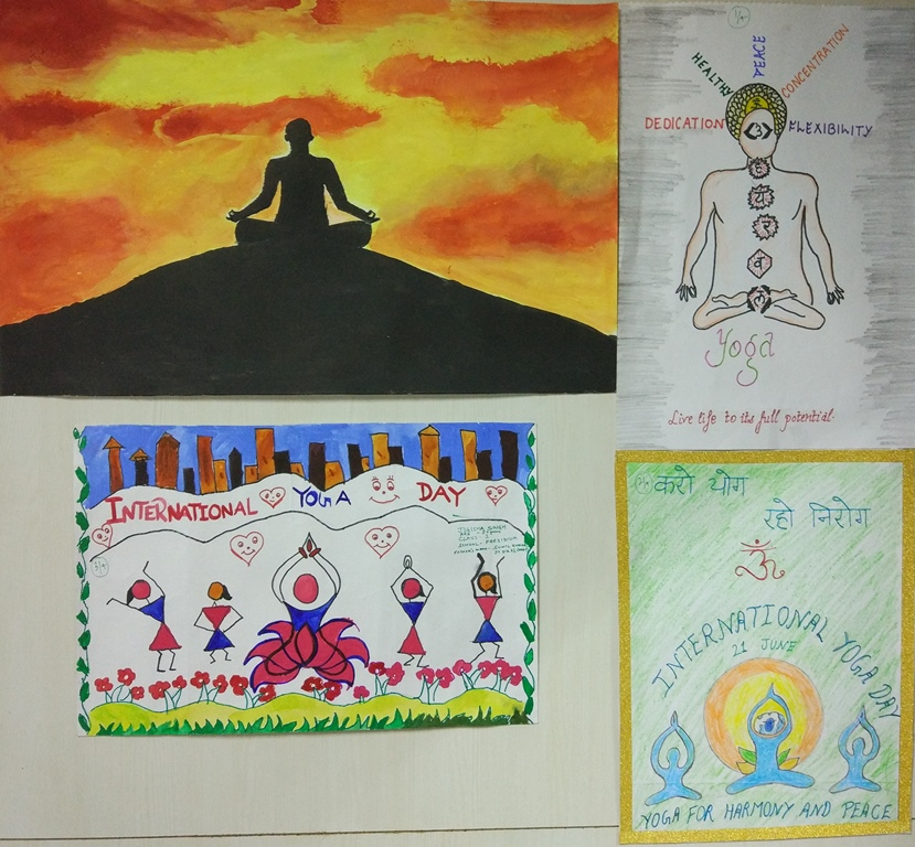Painting competition on Yoga for children of PPAC employees Photo Gallery