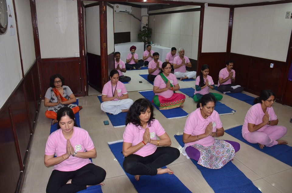 Employees of PPAC performing Yoga on International Yoga Day Photo Gallery
