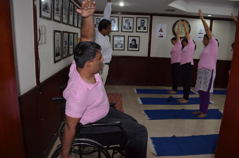 Practice by PPAC employees on International Yoga Day Photo Gallery